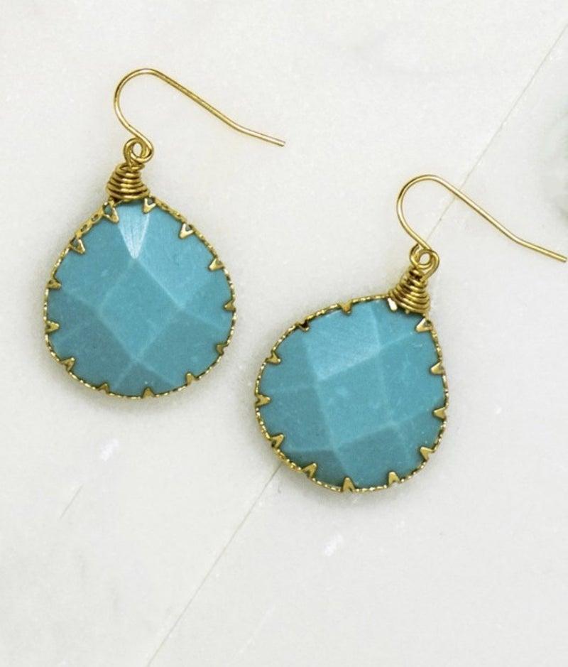 Teardrop Stone Earrings