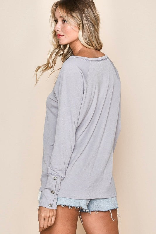 Athena Henley Top