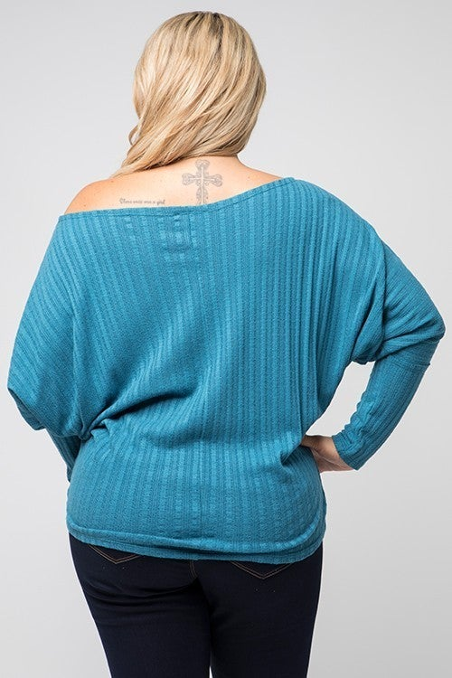Curvy What the Teal Dolman