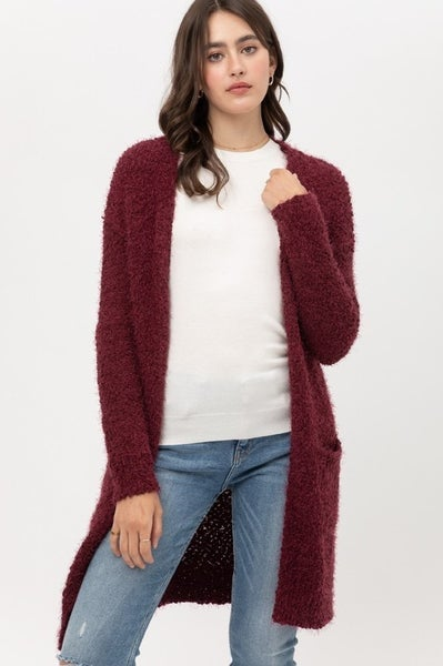 Wrapped In Love Fuzzy Cardigan