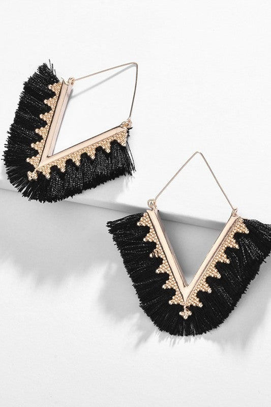 V Thread Earrings
