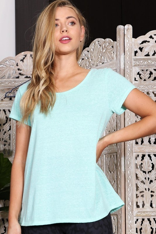 Twisted Back Mint Top