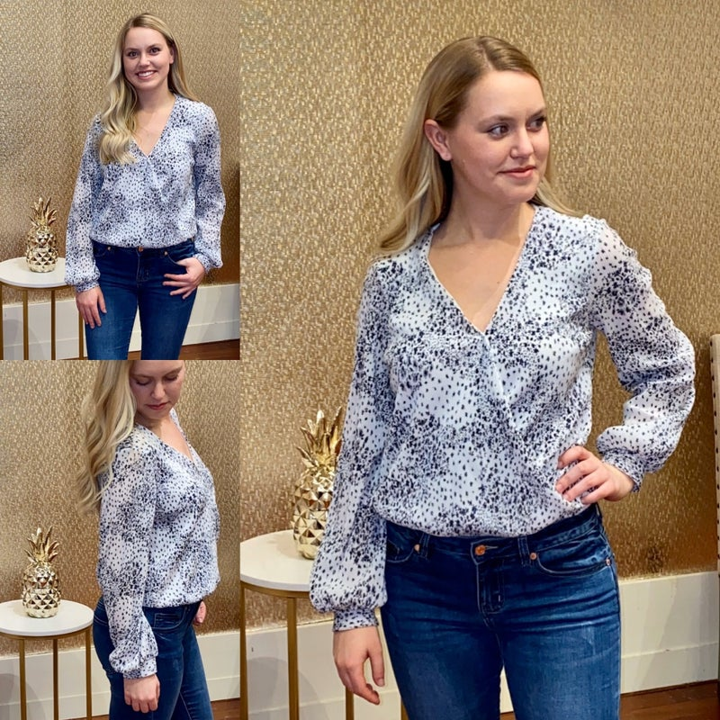 Floral Print Knit Top