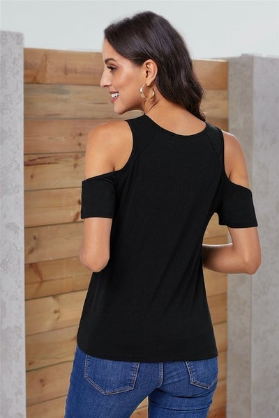 Keeping It Cold Shoulder Top