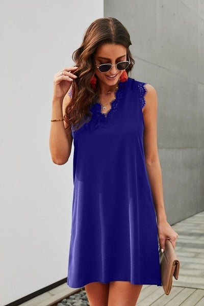 Sapphire and Lace Dress