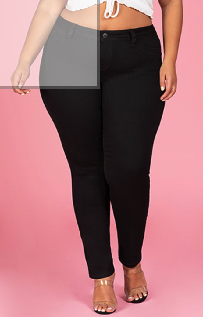 Plus Size Skinny Black Pant