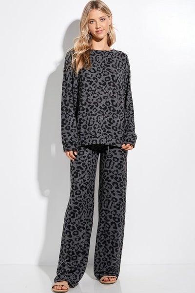 Lounging in Leopard Loungewear Set