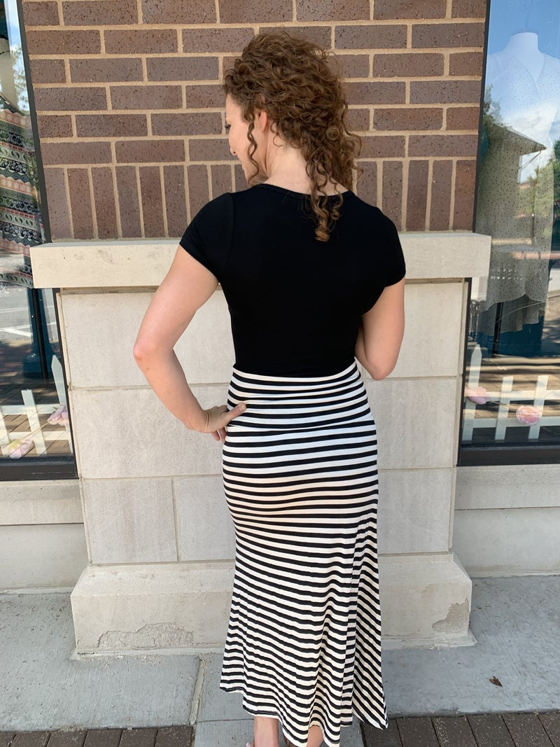 Perfectly Striped Maxi Skirt