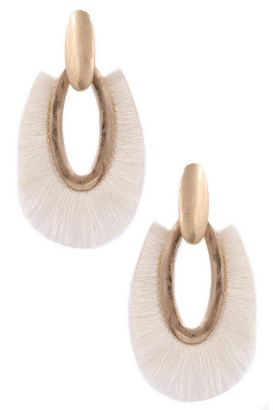 Oval Fringe Earring