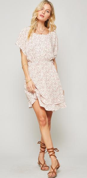 Floral Tiered Skirt Mini Dress