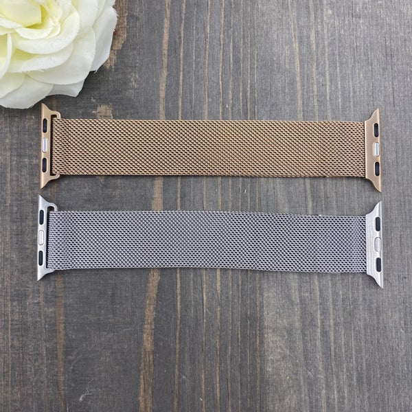 Metal Mesh Metallic Apple Watch Band - 2 colors!