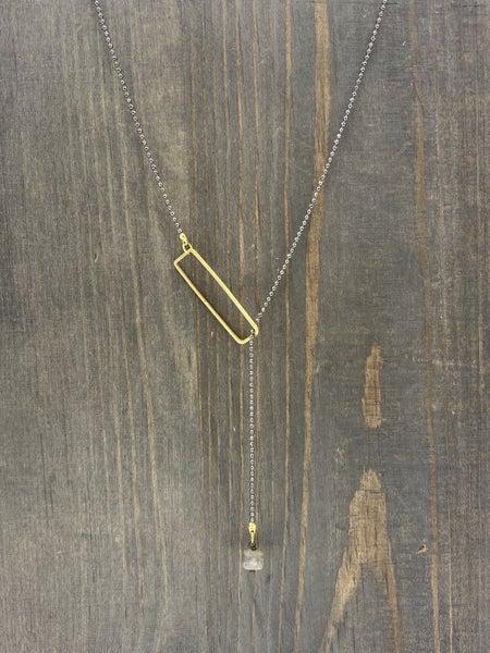 Handmade Labradorite & Gunmetal Necklace