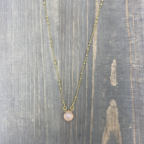 Baby Pink Chalcedony Pendant Necklace *Final Sale*