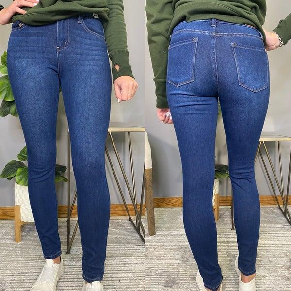 Dark Wash Judy Blue Thermal Jeans