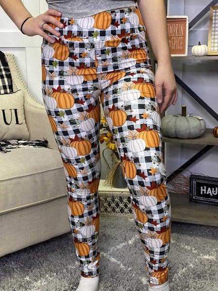 Perfectly Plaid Pumpkin Leggings