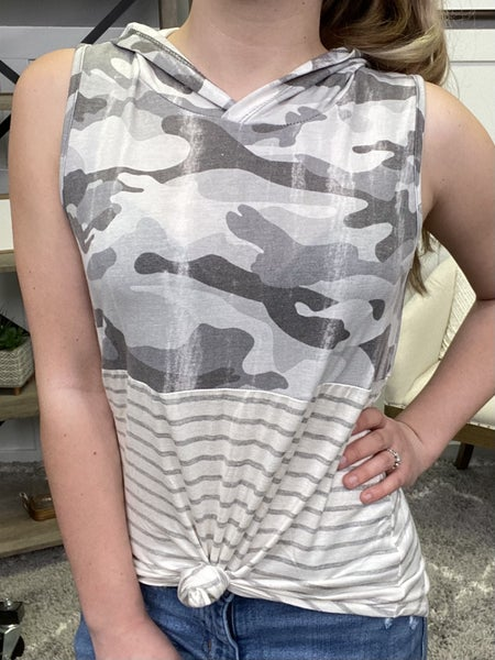 Camouflaged From Others Hooded Tank