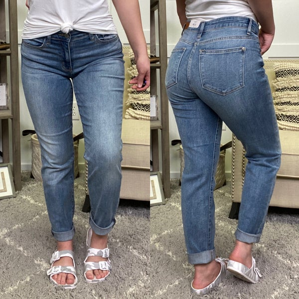 The Sammie Judy Blue Boyfriend Jeans