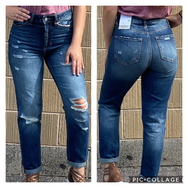 High Waist Relaxed Fit KanCan Jeans