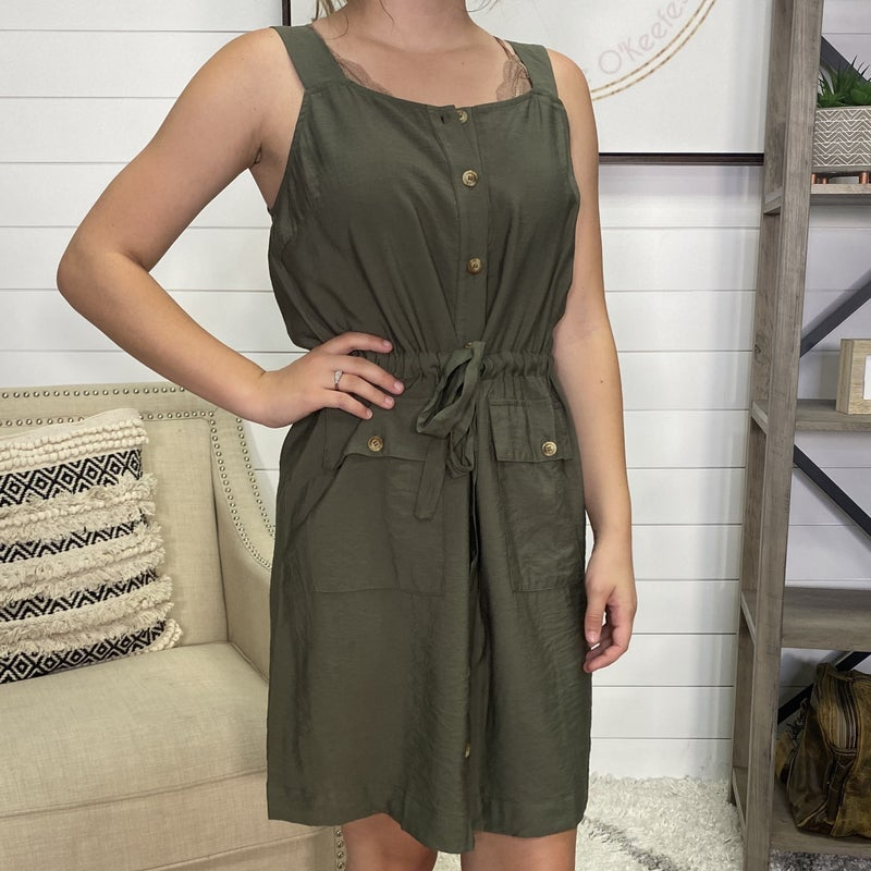 Olive Utility Easy Fit Dress