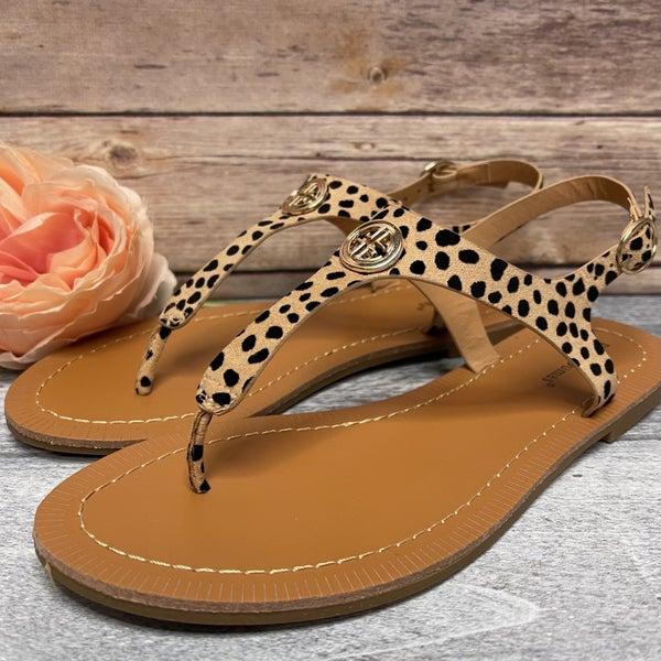 Print Me Cheetah Sandal