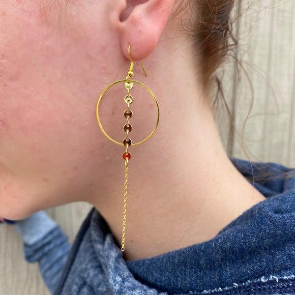 Hoop & Chain Earrings - 2 colors!