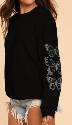Butterfly Fly Away Crewneck