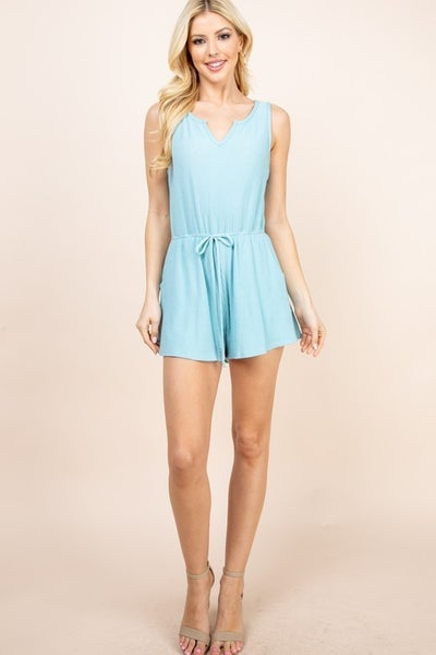 Ribbed Knit Romper - 2 colors!