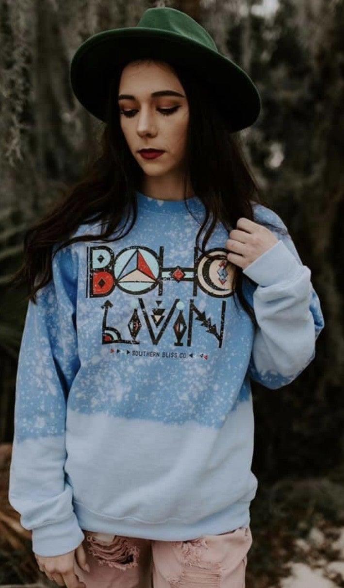 Boho Livin' Crewneck Sweatshirt