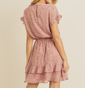 Dusty Rose Floral Dress