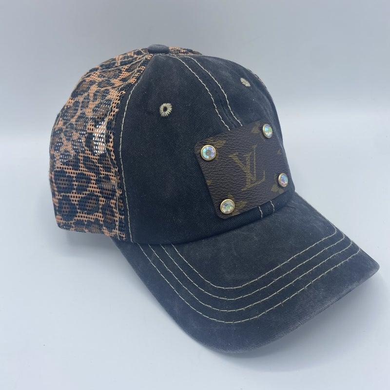 Up-Cycled Designer Leopard Hat