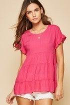 Hot Pink Babydoll Savanna Jane Top