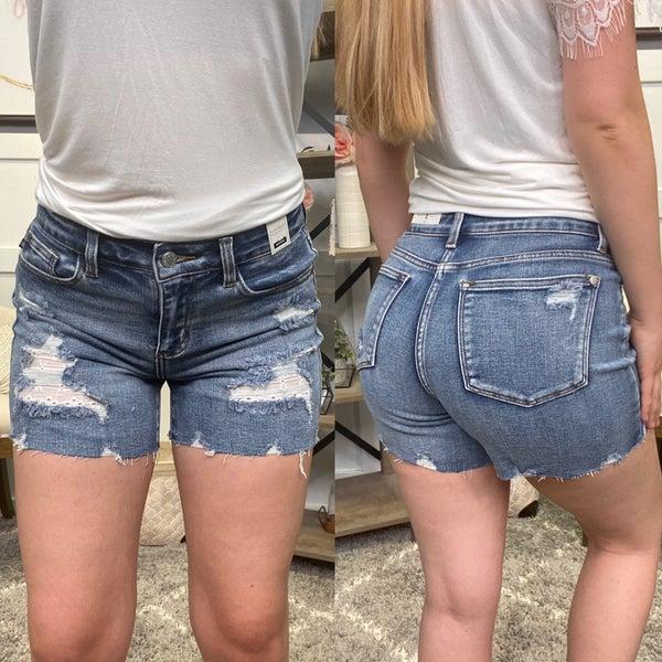 Skylar Distressed Judy Blue Shorts