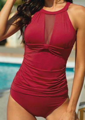 Girl in Red Tankini Swimsuit Set *FINAL SALE*
