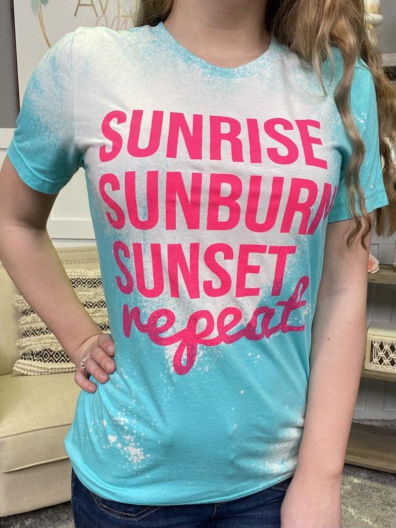Sunrise, Sunburn, Sunset, Repeat Tee