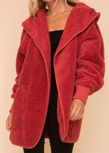 Cozy Fur Open Jacket - 2 colors!