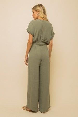 Olive Wide Legged Jumpsuit