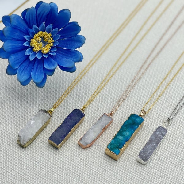 I Spy Avery Mae Druzy Stone Exclusive Necklace - 5 colors!