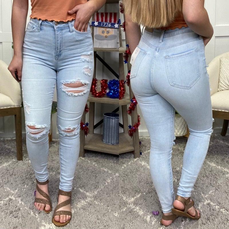 The Ashlyn High Rise Cello Jeans