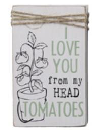 Wood Block Tomatoes Sign