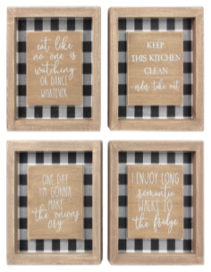 Mini Wooden Wall Kitchen Humor Signs - 4 Options