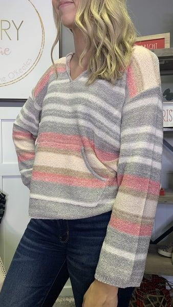 Splash of Pink Sweater Hoodie