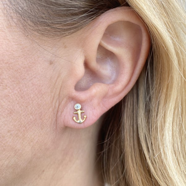Gold Filled Anchor Studs