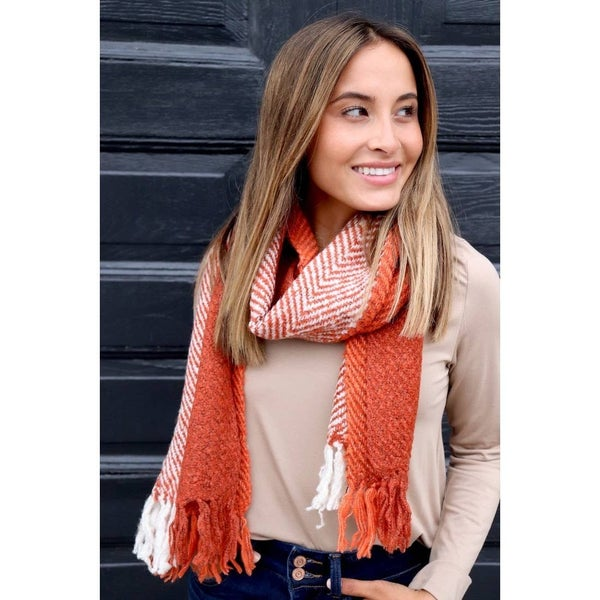 Long Scarf with Fringe