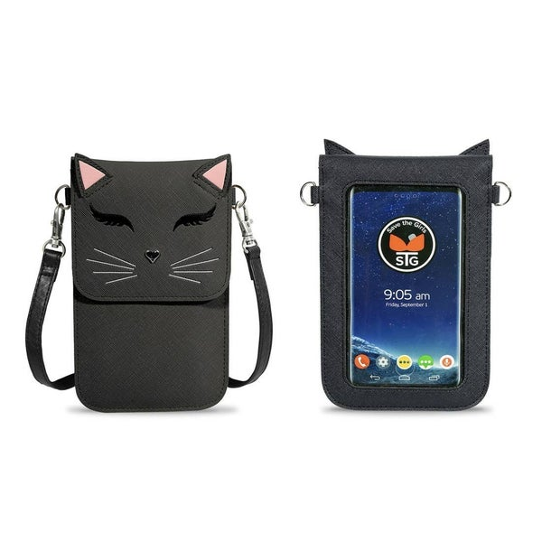 Just For Fun Cat Touchscreen Purse