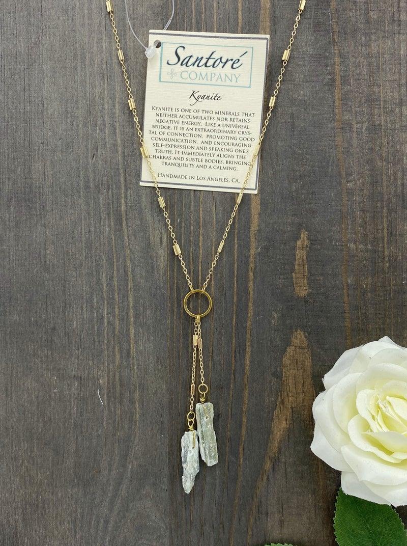 Kyanite Tassel Necklace