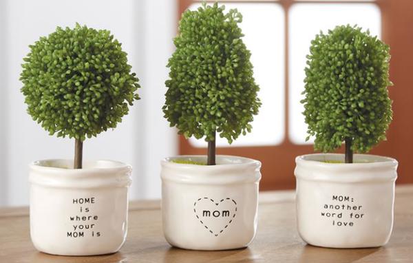 Artificial Topiary in Ceramic Pot - 3 Saying!