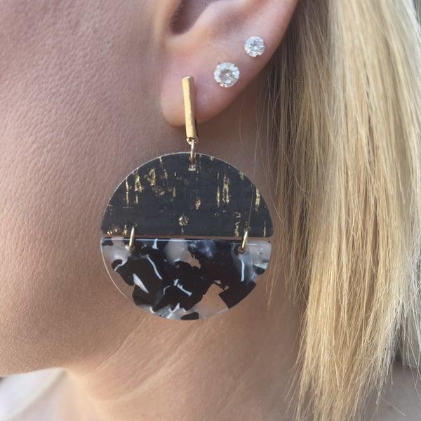 Celebration Circle Earrings - 2 colors!