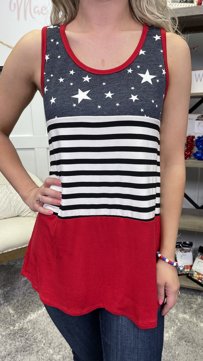 For the Red, White, & Blue Tank