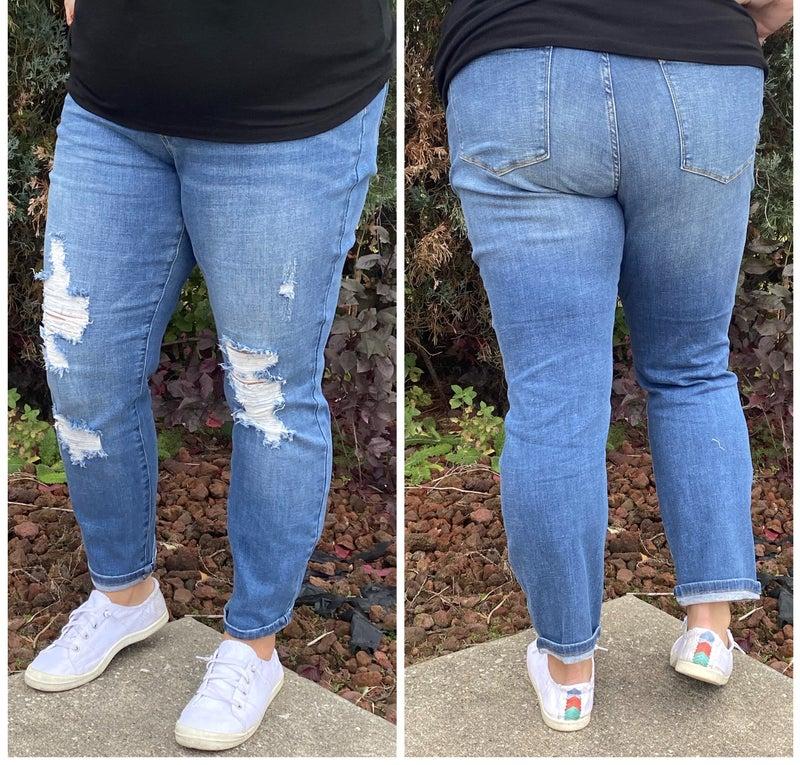 Maternity Distressed Boyfriend Judy Blue Jeans