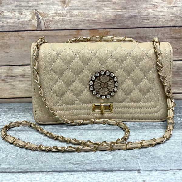 Neutral Sheik Up-Cycled Purse